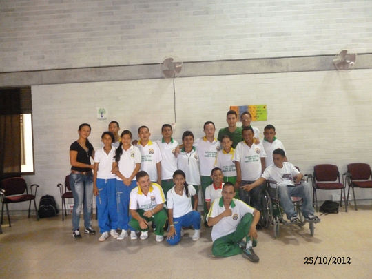 Group of students with disabilities