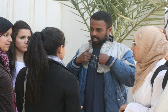 Abdelhadi Giving on site filming lessons