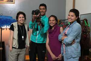 Students at the Photography workshop