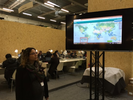 Presenting a digital mapping project at COP 21