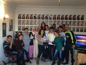 Dounia Project president visits Casablanca site
