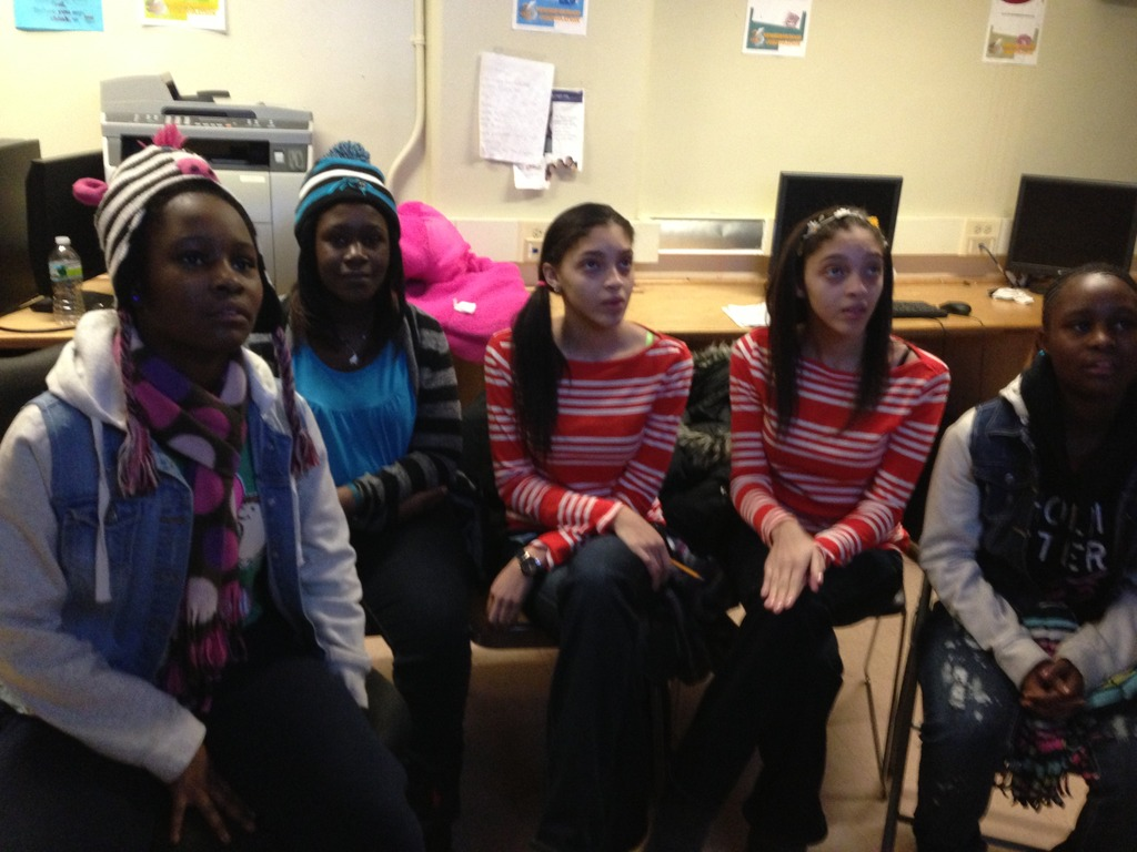 DP Bronx students communicating with Casablanca