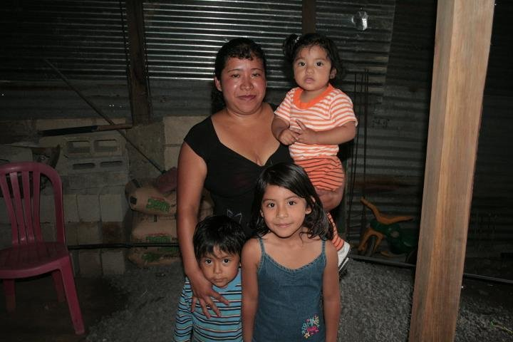 Marisol with her daughter Saida and her son, Jose