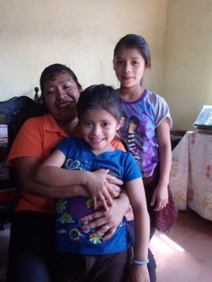 Fatima with Marisol and her sister 2015