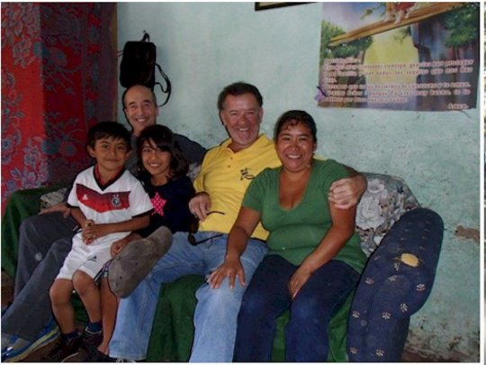 Visting families with Terry Patten