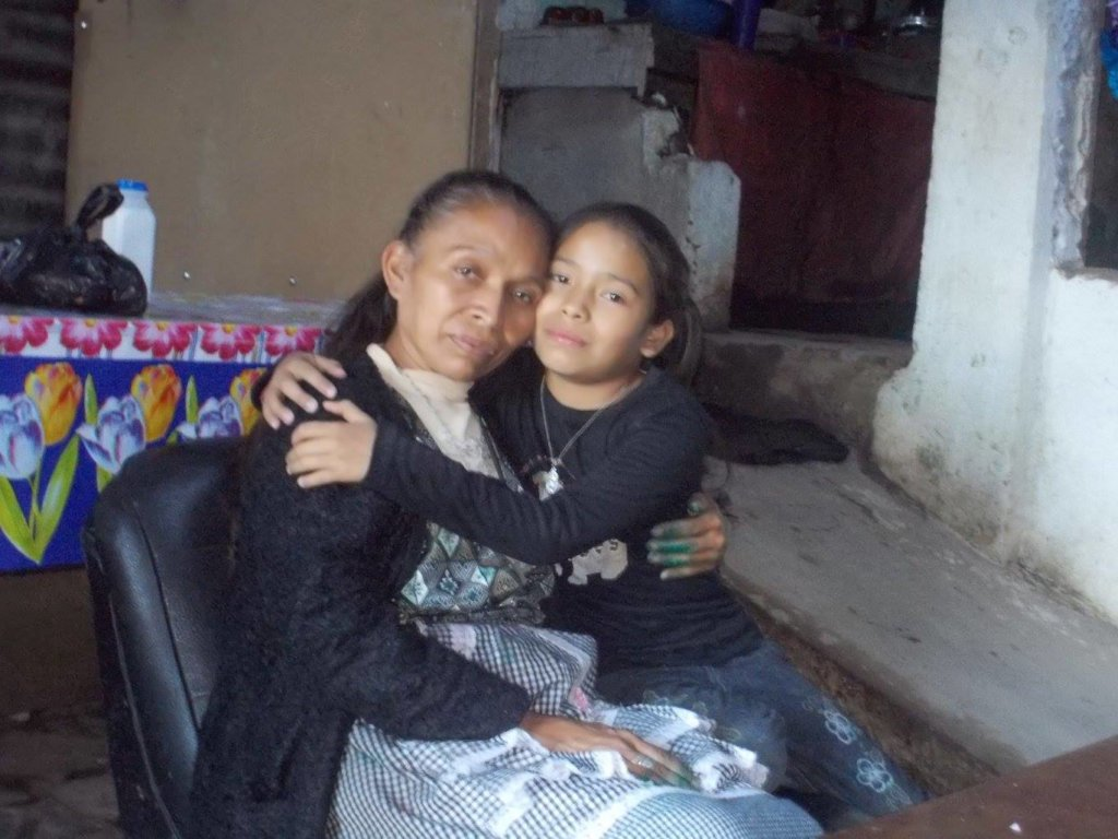 Guadalupe and her mom Dona Sara