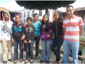 Some of the students with JC, the teacher (right)