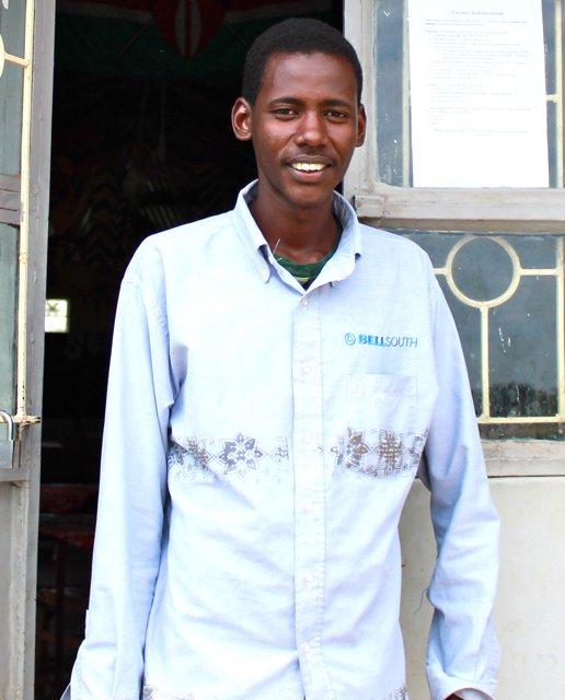 Our new librarian Jeremiah Saitoti!