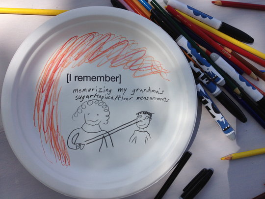 memory plate created at Dig-IN