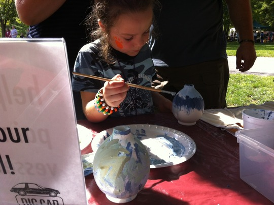 creating artwork at the Hoosier Outdoor Experience