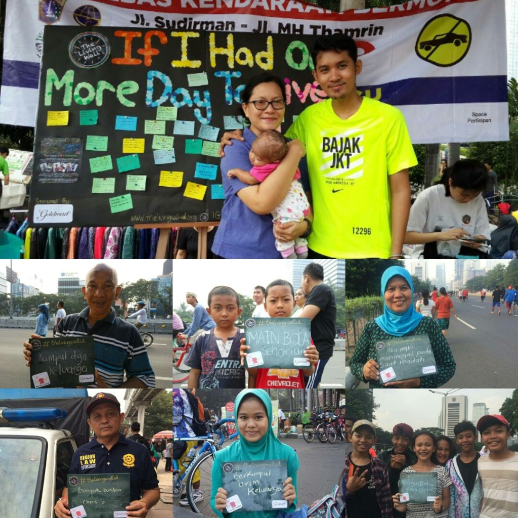 Spreading awareness on the streets of Jakarta