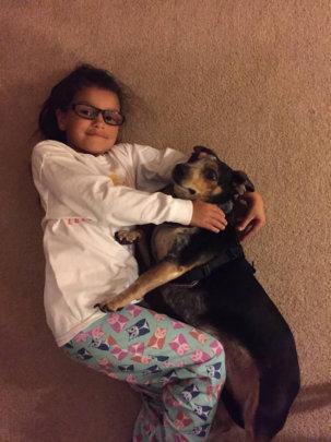 Zena and Layla, her new buddy