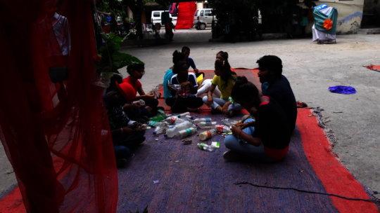 KM youth taking waste material workshop at Creativity adda.jpg
