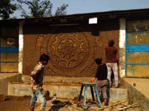 Making of the Traditional Wall Mural with cow dung.jpg