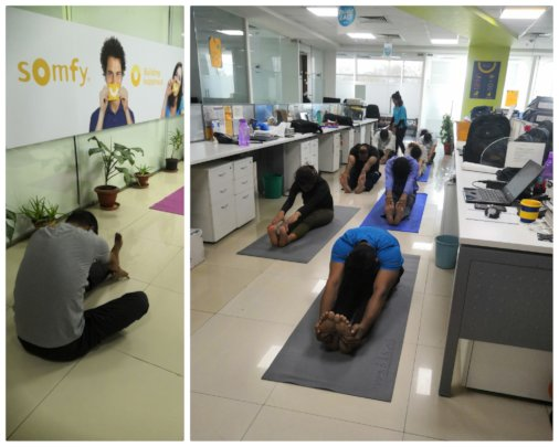 Yoga at Somfy Foundation
