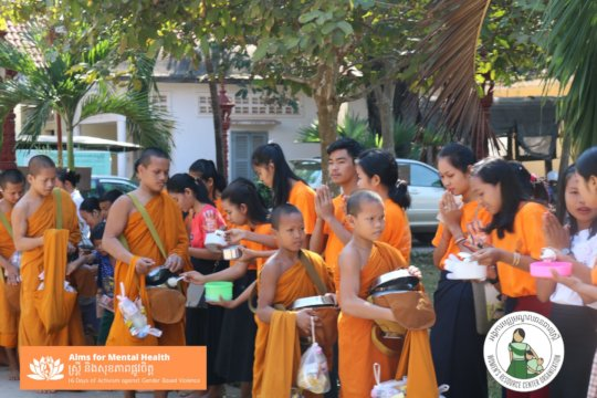 Giving Alms to Monks for mental health