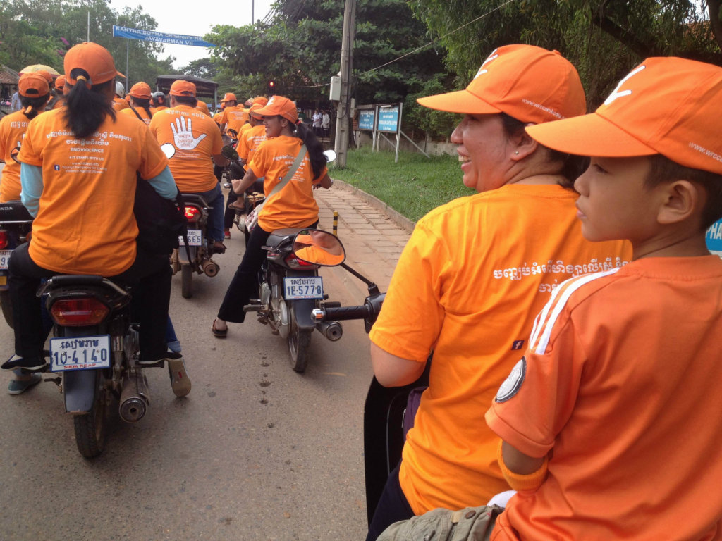 Campaign motorbike ride around Siem Reap