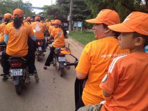 Campaign motorbike ride around Siem Reap