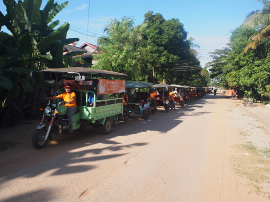 Using the tuk tuk you bought us, we led the parade