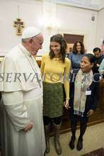 Pisey and Sally meet the POPE at the Vatican!