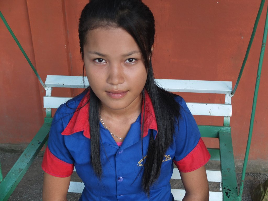 Your monthly gift helps girls like Sreysor