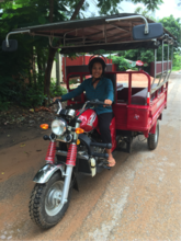 Uch now feels empowered as our tuk tuk driver