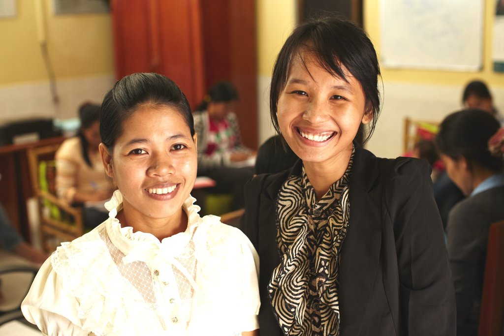 Center Manager Pisey and Health Facilitator Ratana