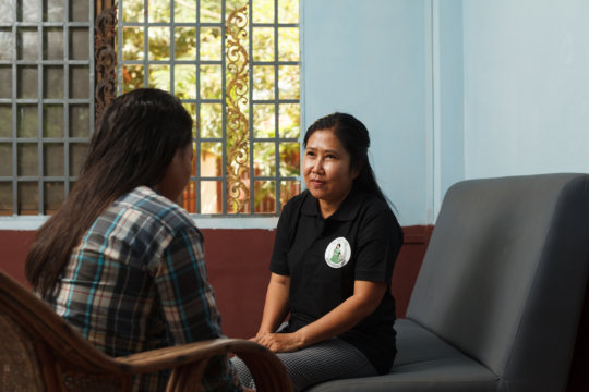 We provide emotional support to women and girls