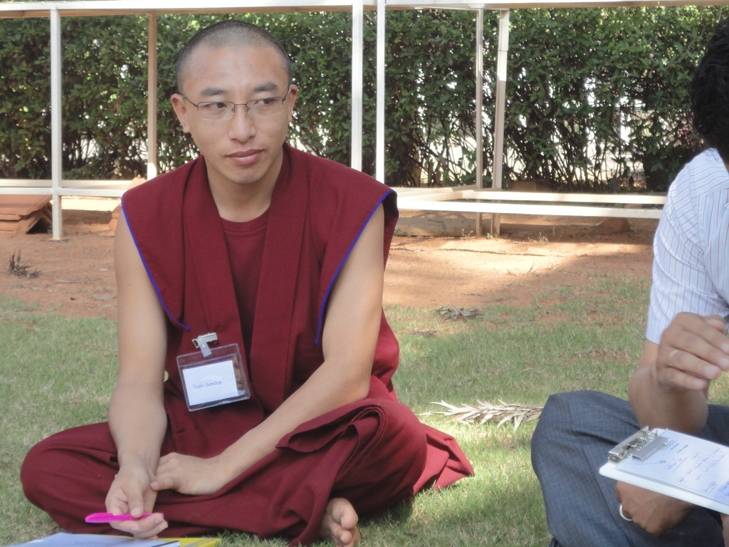 Monastery student engaging in a moch mediation