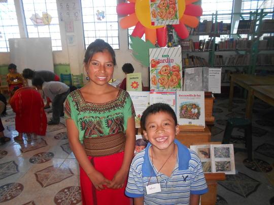 Librarian Marilu and a beaming Bryan