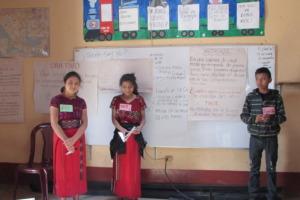 Scholars presenting on a career in medicine
