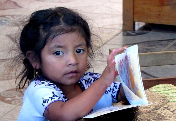 One of our younger members reading a book