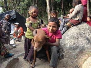 Children at Charan Slum