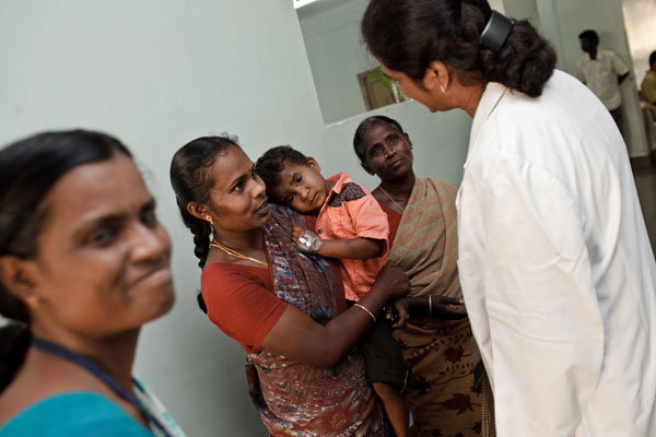Dr. Usha in the Orbit Clinic, Aravind Hospital
