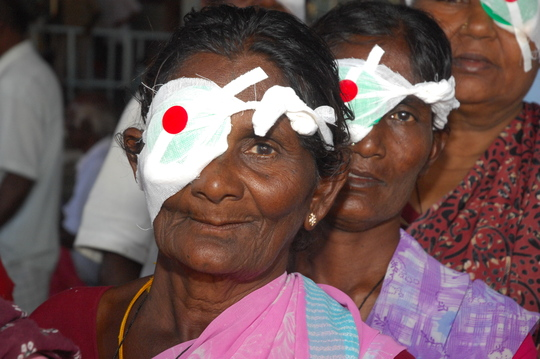 Cataract patients at Aravind