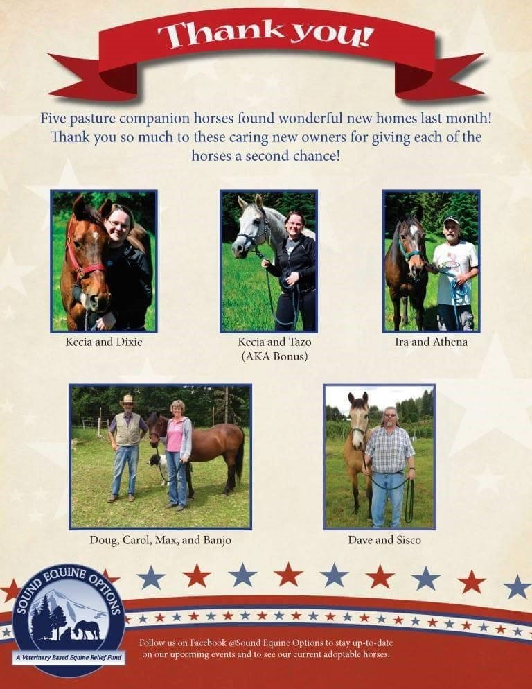 Some of the 2016 Companion Adoptions!