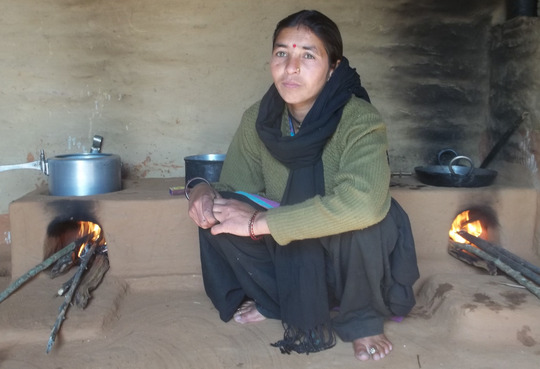 Hema of Karayal with her smokeless chullah