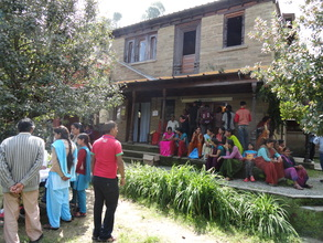Patients outside the hospital in village Satoli (DOC)