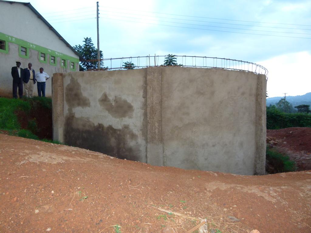Tank next to dormitory