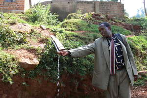 Mr. Ombati tests the water