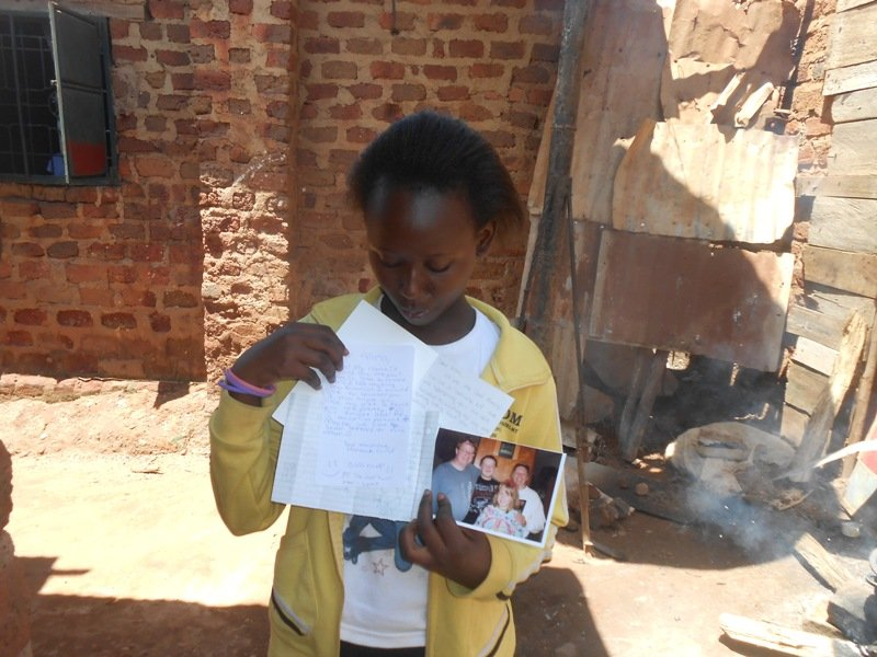 Allen and her letter from her sponsor