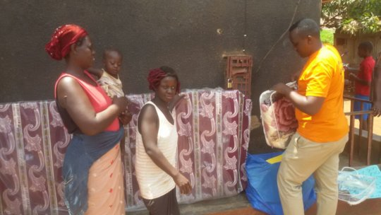 Annet recieved bedigns from her sponsor