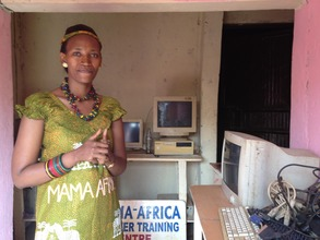 Winnie in the Mama Africa office/store room