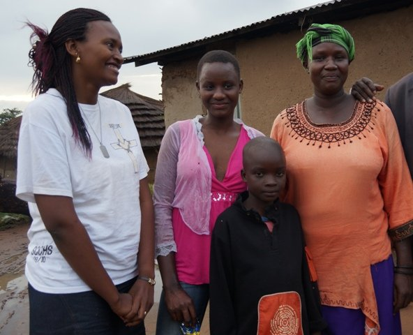 Sanyu Re-united with her Mother and Brother