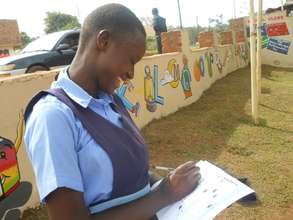 Sanyu writting a letter