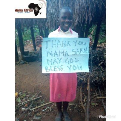 Doreen thanking her sponsor