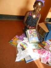 Farida and her Birthday gift from her sponsor