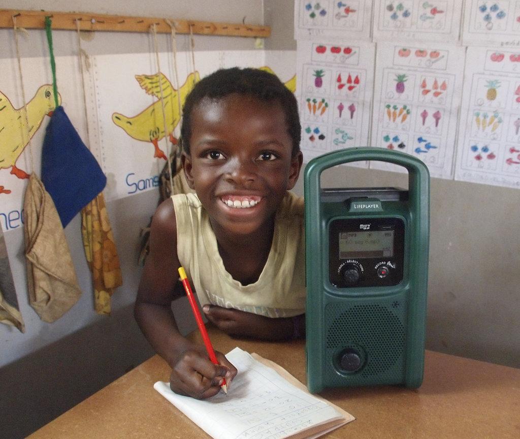 Solar MP3 players to educate Zambian children