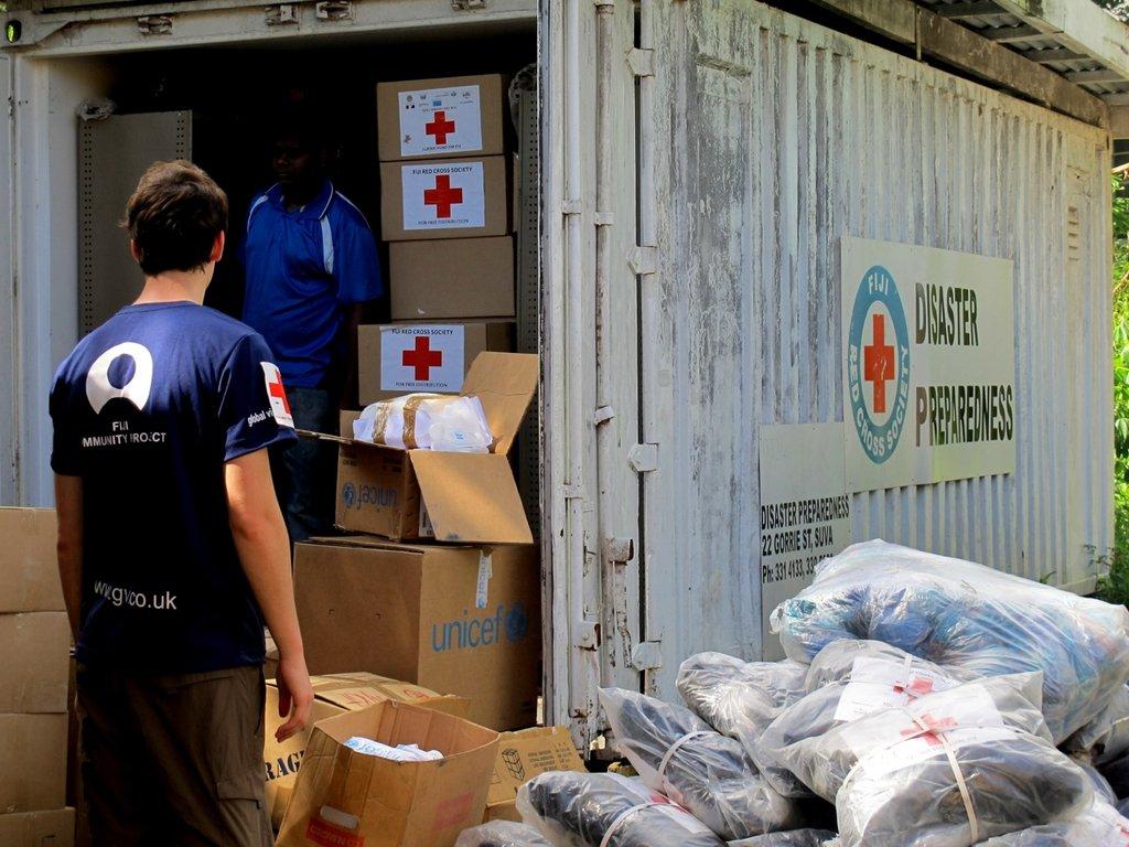 Emergency supplies arriving