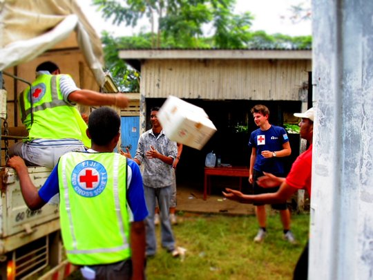 Distribution of essential supplies